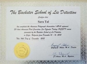 The Backster School of Lie Detection
